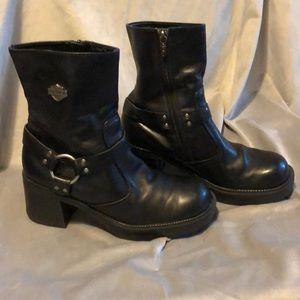Harley Davidson Boots 10 black leather